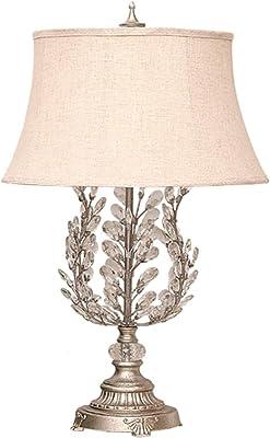 Cristal Lampe de bureau Chambre de chevet Décoration Lampe de table moderne Salon Simple Creative européenne américaine romantique Argent