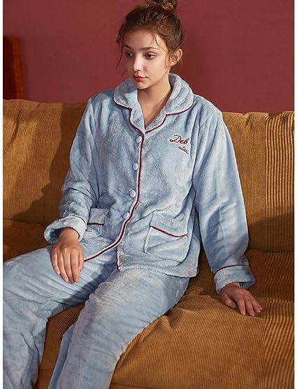 B/H Pijamas de Seda con Mangas para Mujer,Pijama de Franela ...