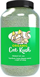 Cat Kush Organic Catnip, Safe Premium Blend Perfect for Cats, Instilled with Maximized Potency Your Kitty is Sure to Go Crazy for