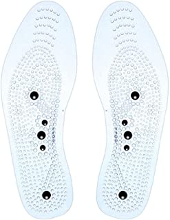 KOBWA Acupressure Magnetic Massage Foot Therapy Reflexology Pain Relief Shoe Insoles 1 Pair Men and Women Health Care Massage Insoles(Washable and Cuttable)
