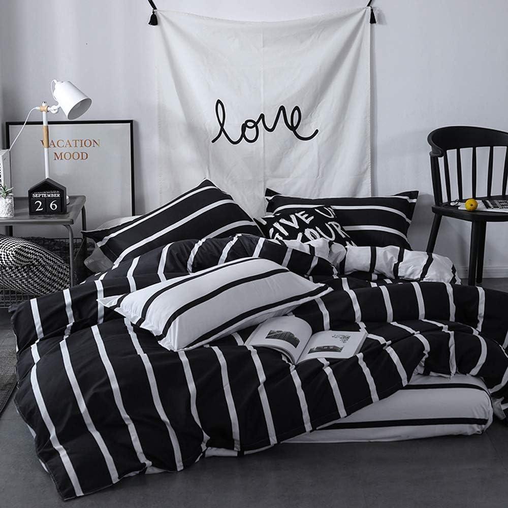 TEALP Twin Duvet Cover Set 3 Pieces Ultra Soft Zipper Closure Bedding Set Black and White Polka Dots 1 Duvet Cover 2 Pillow Shams for Women Men