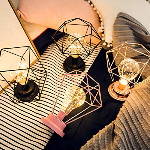 JALAL Christmas Decorative Light Creative Desk Lamp Iron Bedroom Decoration Photography Prop Lamp