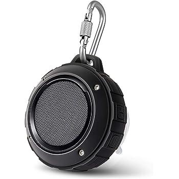 Bluetooth スピーカー Lenrue F4 ミニワイヤレススピーカー IP45 防水&防塵認証 マイク内蔵 高音質 アウトドアスピーカー TF カード対応/iPhone/iPad/Android/タブレットなどに対応 (ブラック)