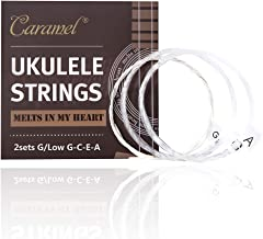2x Sets of Fluoro-Carbon Ukulele String Clear Color with Extra 2x Low G (G/Low G-C-E-A) for Soprano Concert Tenor Ukulele