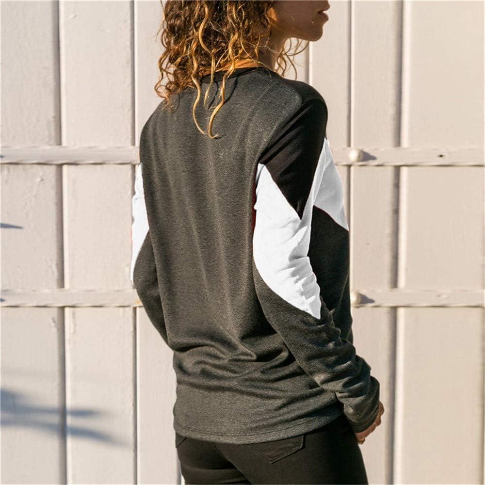MRULIC Damen Kurzarm T-Shirt Rundhals Ausschnitt Lose Hemd Pullover Sweatshirt Oberteil Tops S2-weiß