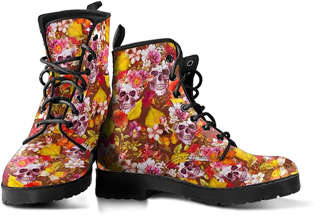Skull and bones, Leather Shoes, Womens Skull Boots, Vegan Leather Boots, Winter Boots, Rain Boots Womens, Bohemian Shoes, Hippie Boots