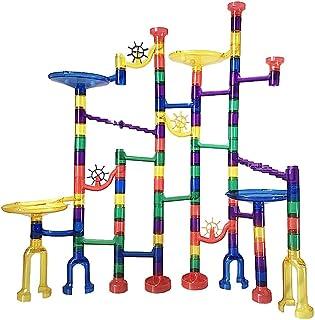 Mumoo Bear Marble Run Building Blocks Toy for Kids 122 Pieces