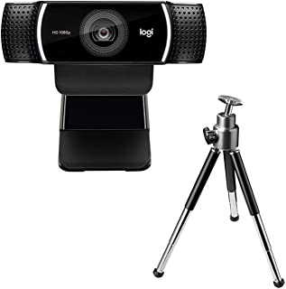 Logitech Full HD C922 Pro Stream Webcam, 1080p Camera Streaming Webcam, Records and Streams Your Gaming Sessions in Rich H...