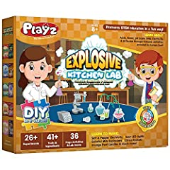 EXCITING WAY TO LEARN: Inspiring young children to learn has never been more fun with this Playz science kits that allows kids to learn about acids, bases, pH scale, DNA, electricity & diffusion through volcanic activities powered by lemon fuel! Perf...