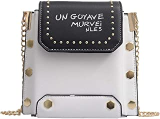 chinatera Crossbody Bags for Women, Shoulder Bag Small Side Purse Mini Clutch with Rivets