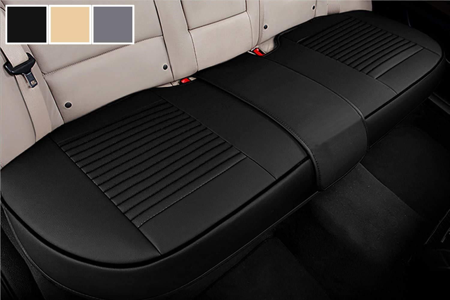 Amazon Com Big Ant Back Seat Covers Separated Seat Cover Pu Leather Back Car Seat Covers Breathable Back Cover Fit For Most Car Suv Vehicle Supplies Black Flexible For Different Seat Size Automotive