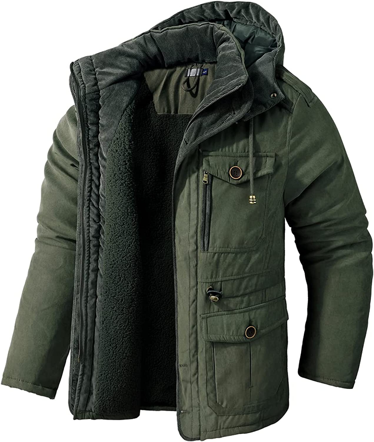 Mr.Stream Men's Winter Hooded Ranking TOP13 Jacket Lined Flee Windproof Challenge the lowest price of Japan Sherpa