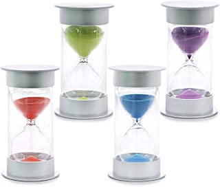 Hilitchi 30 Mins Hourglass Sand Timer with Green Sand Time Sharing Reminder for Mantel Office Desk Coffee Table Book Shelf Curio Cabinet as Christmas Birthday Valentine's Gifts (Green for Peace &Hope)