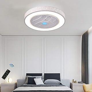 CAGYMJ Ventilador de Techo con lámpara, LED luz del Ventilador, 3 Velocidades, 3 Colores Regulables, con Control Remoto Inteligente, 60W Lámpara de Techo para Sala de Estar del Dormitorio,B