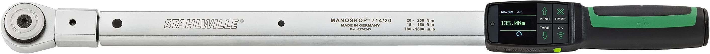 Acier volonté 721 Quick Clé Dynamométrique standard manoskop ® avec fixe intégrée