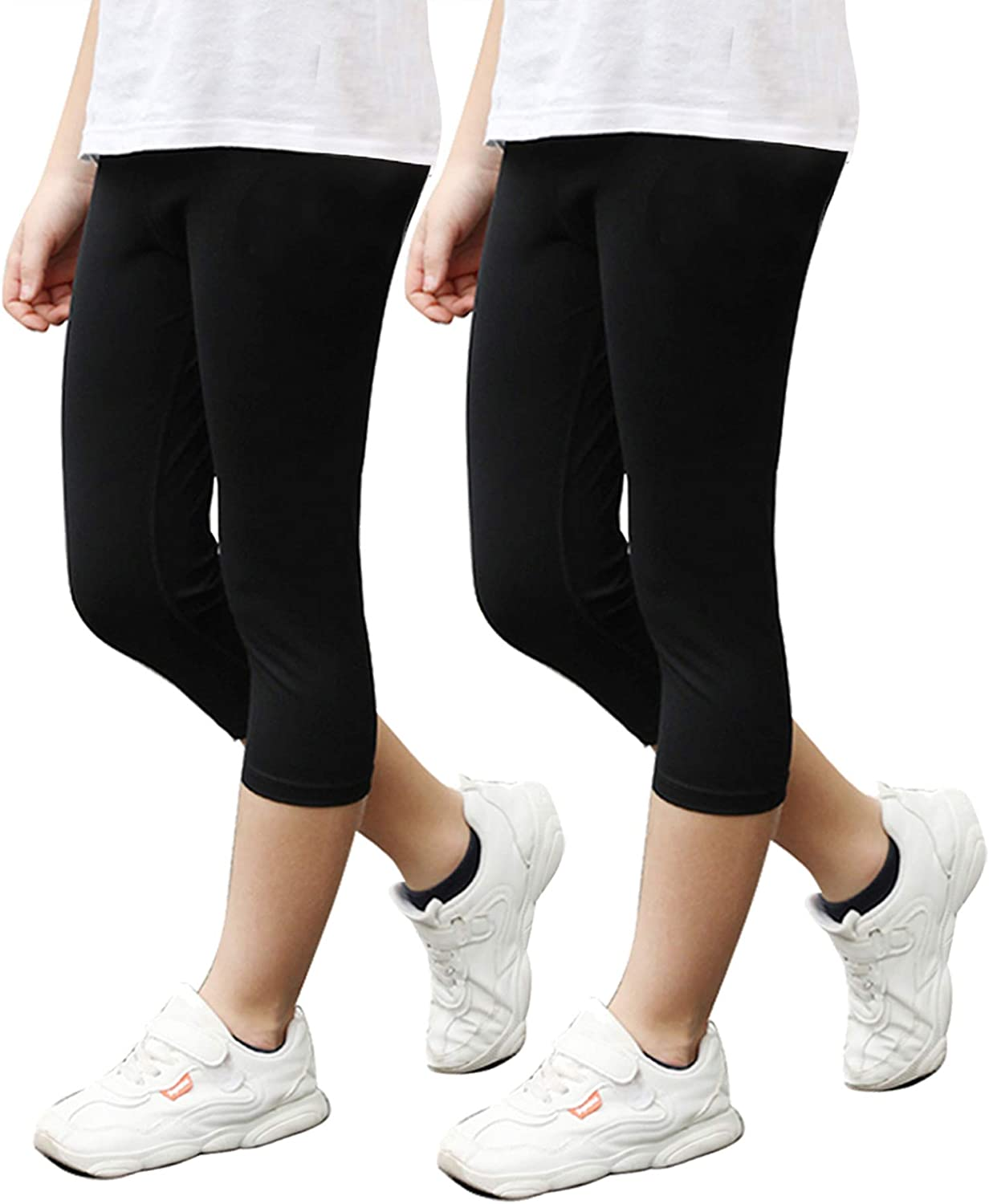STELLE Girls Active Capri Legging Yoga Pants for Workout Sport Running