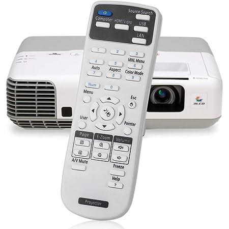 Aimdio Telecomando Proiettore per Epson EH-TW420 EH-TW450 EB-S92 EB-S7 EB-W7 EB-X8 EB-S8 EB-W8 EB-X7 EB-S9 EB-S10 EB-W10 EB-W9 EB-X10 EB-X9 EB-X92 EB-93 EB-92 EX31 EX51 EX71 EX5200 EX3200 Universale