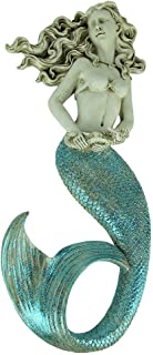 Chesapeake Bay Ltd Glittery Coastal Blue and White Mermaid Wall Hanging