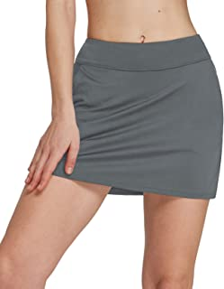 Womens Skort Built in Skirts for Golf Tennis Workout Casual Athleta Wear with Pockets