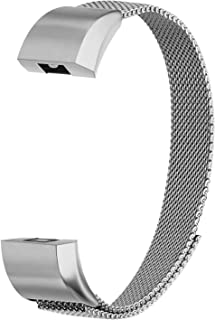 POY Compatible for Fitbit Alta Bands, Stainless Steel Metal Replacement Bracelet Strap with Unique Magnet Lock for Fitbit Alta and Alta HR