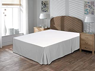 whitecottonworld Mega Sale Offer 600 Thread Count Durable Egyptian Cotton King Size 1-Pieces Split Corner Tailored Bed Skirt 12 Inch Drop Length, Silver Gray Solid