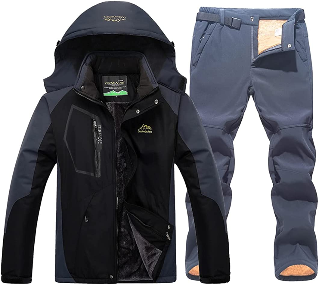 USDBE Winter Ski Suit for Men Dallas Mall Warm S Jackets Snow and Portland Mall Pants Male