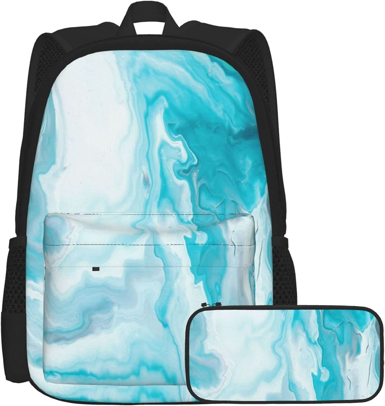 Gesdfwe Kids Backpack Year-end gift Blue Marble With Texture Great interest P School