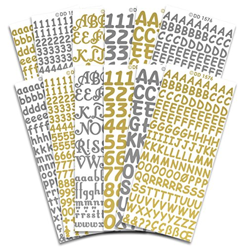 Peel Off Stickers Letters & Figures Stickers CPD 1031, Multicoloured, 23 x 10 x 1 cm