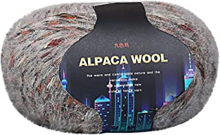 Fan-Ling 1PCS Colorful Alpaca Wool Hand-Knitted Coat Sweater Scarf Line in The Thick Wool,Assorted Colors Smooth DIY Hand Knitting Baby Craft Shawl Scarf Crochet Thread Supplies,50G (H)