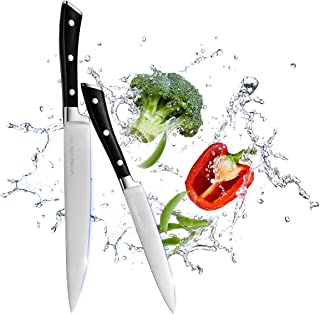 VOSIN Paring Knife Set,2 Piece Melon Knife,3Cr13 Stainless Steel Fruit Knife,Stain & Corrosion Resistant Chef Knives Kitchen knives Sets