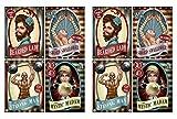 Beistle Vintage Circus Poster Cutouts (8 Piece), 15.25', Multicolor