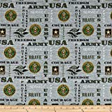 Sykel Enterprises Military Army Heather Allover Fabric, Multicolor, Fabric By The Yard