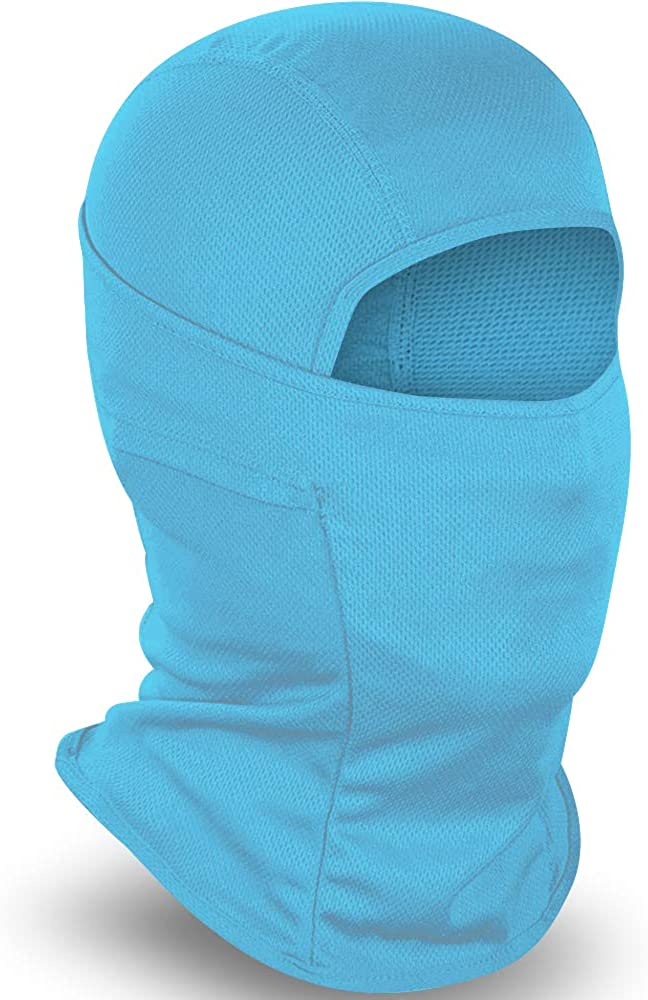 CHYOUL Balaclava Face Mask UV Protection Summer Sun Hood for Men Women Outdoor Sports Tactical (Blue): Clothing
