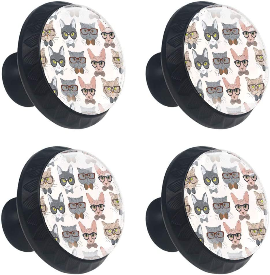 Max 60% OFF Shiiny Hipster Nippon regular agency Cat Pattern Drawer Pull Handle Knob Cabinet Drawe