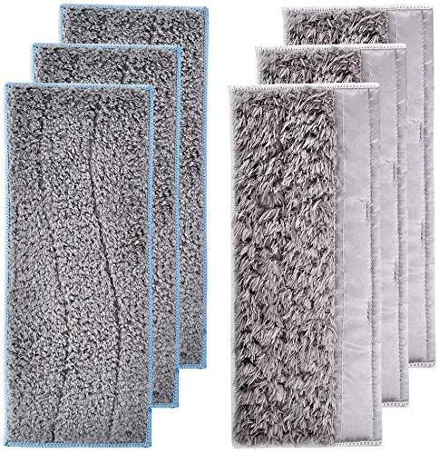 YAJIWU Piezas de repuesto Accesorios Almohadillas de repuesto para mopa húmeda iRobot Braava Jet M6 Almohadillas secas lavables (color: 3 almohadillas húmedas+3 almohadillas secas)