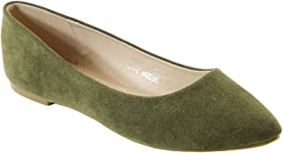 18fc0706e Bella Marie Angie-53 Women s Classic Pointy Toe Ballet Slip On Flats Shoes