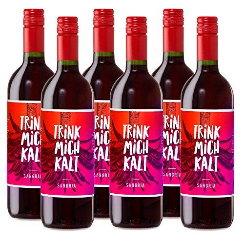 Sangria aus Spanien | TRINK MICH KALT | Das fruchtig-süße Kult-Getränk für den Sommer | Weinpaket Spar-Set mit 6 Flaschen