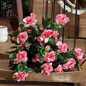 Household Decorations/Simulation Flower/Living Room Fake Flowers/Decorative Flowers/Silk Flower/Rhododendron Bouquet-C