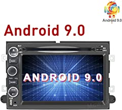 MCWAUTO Android 9.0 Car Radio DVD Navigation Player Fit for Ford F150 F250/350/Edge/Fusion/Mustang in Dash 2 Din Car GPS Navigation Radio Receiver Support SWC/DVR/OBD2