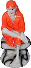 ART N HUB Marble Look Lord Sai Baba Idol God Shri Sai Nath Statue Shirdi Sai Decorative Spiritual Puja Vastu Showpiece Fig...
