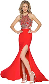 Womens Silk Prom Evening Dress