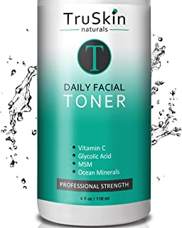 TruSkin Daily Facial Super Toner for All Skin Types, with Glycolic Acid, Vitamin C, Witch Hazel and Organic Anti Aging Ing...