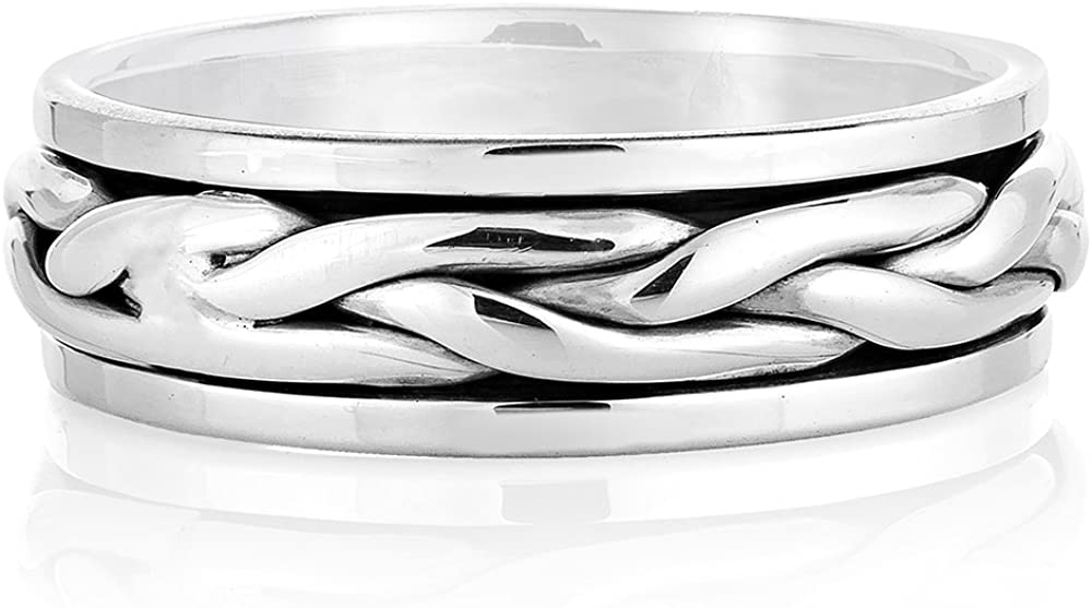 925 Sterling Complete Free Shipping Under blast sales Silver Woven Classic Design Eterni Knot Celtic Rope