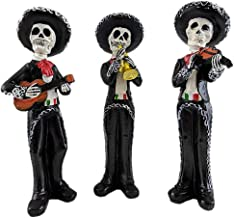 Gerson Mariachi Skeletons Day of The Dead Figurines - Set of 3