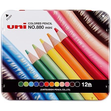 三菱鉛筆 ミニ色鉛筆 880 12色 K880M12CP