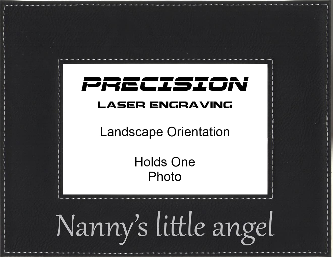 Grandma Nanny Gift New product Nannys little Pict Brand new Engraved angel Leatherette