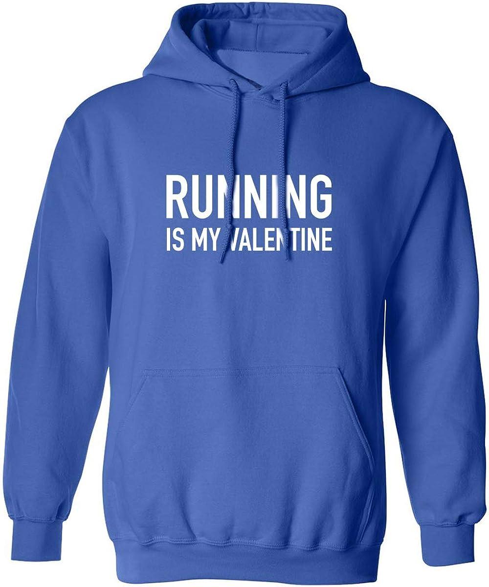 Running Is My Valentine Adult Hooded Sweatshirt
