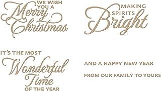Spellbinders Elegant Holiday Sentiments Glimmer Hot Foil Plate, Metal