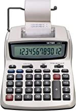 $35 » Victor Printing Calculator, 1208-2 Compact and Reliable Adding Machine with Extra Large 12 Digit LCD Display, Automatic Tax Keys, Percent Key, Cost, Sell, and Margin Keys, Environmentally Friendly