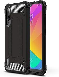 LXHGrowH Funda Xiaomi Mi A3, Fundas 2in1 Dual Layer Anti-Shock 360° Full Body Protección TPU Silicona Gel Bumper y Duro PC Armadura Carcasa para Xiaomi Mi A3, Negro